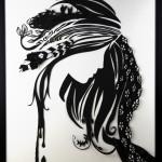 Paint it Black 3rd piece, Black & White papercut