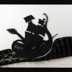 Paint it Black 2nd piece, Black & White papercut