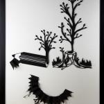 Reborn, Black & White papercut